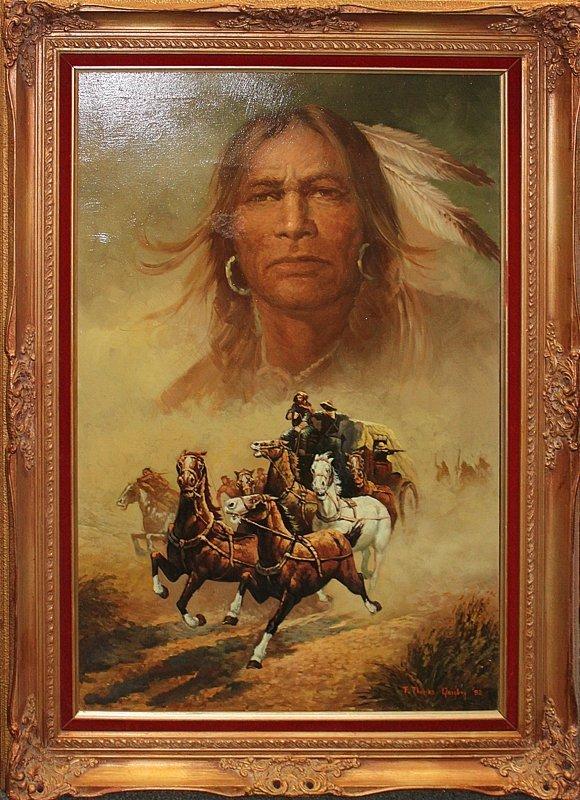 Thomas Quigley Original Oil Chiefs Dream