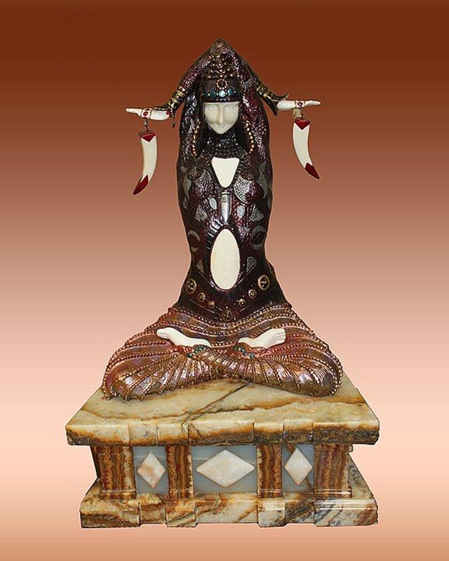 Demetre Chiparus Civa Bronze & Ivory Sculpture