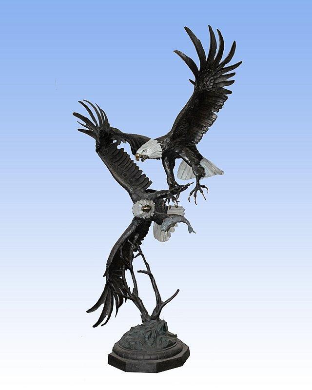 Jules Moigniez- Bronze Sculpture-Fighting Eagles