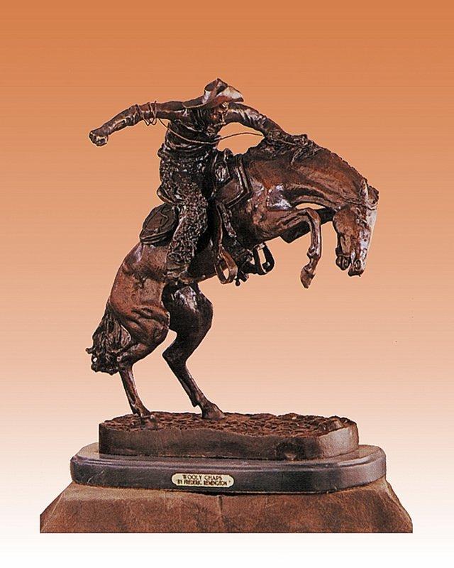 Frederic Remington-Bronze Sculpture-Whooly Chaps