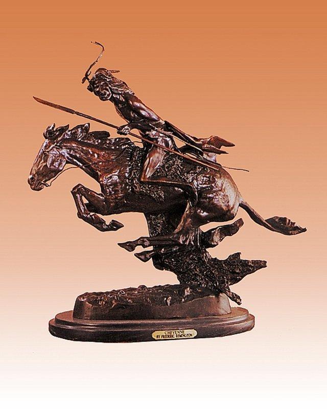 Frederic Remington Big Cheyenne Bronze Sculpture
