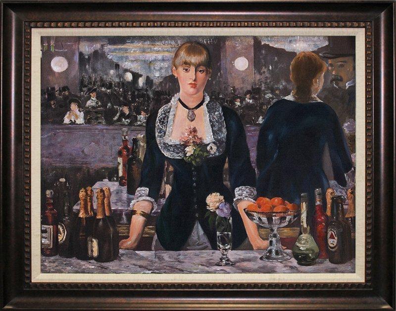 Edouard Manet-The Bar Follies Bergere