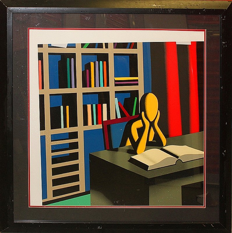Search for Useless Knowledge Kostabi Serigraph