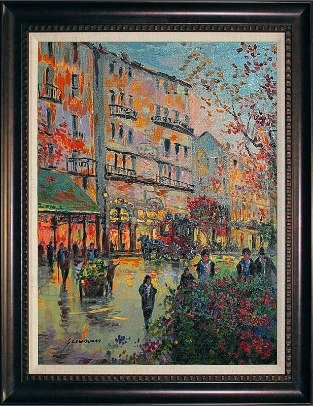 Michael Schofield Mixed Media Original Winter Parisian