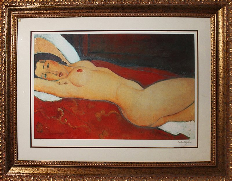 Modigliani Limited Edition Giclee Reclining Nude
