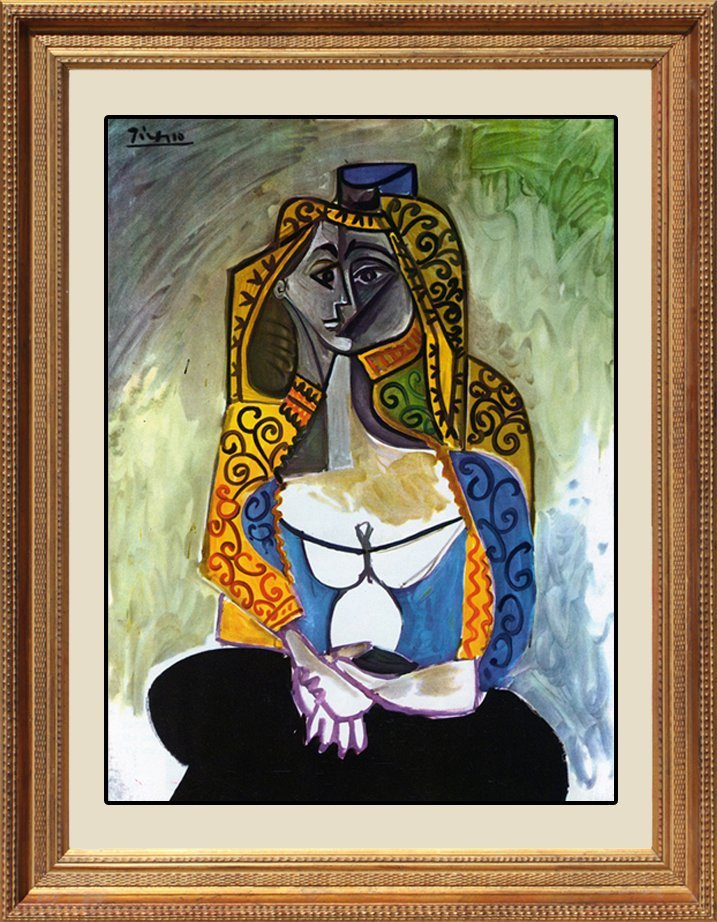 Pablo Picasso-The Turkish Shawl