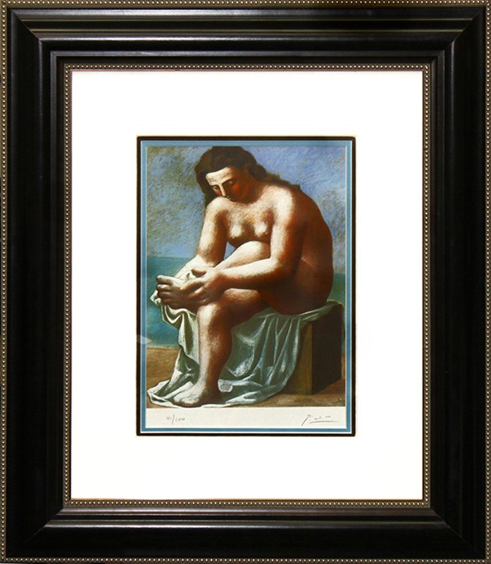 Pablo Picasso Hand signed Lithograph Reflecting