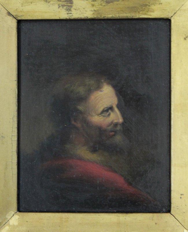 Portrait of Joseph from 1700s original oil on board