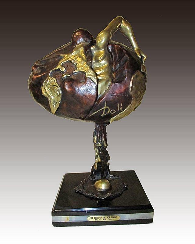 Salvador Dali Birth of a Human Bronze Sculpture
