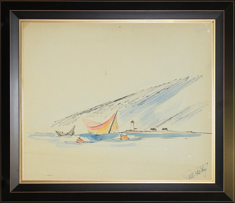 Original Watercolor by Pierre Lawton