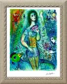 Marc Chagall Limited Edition Lithograph Circus Fan