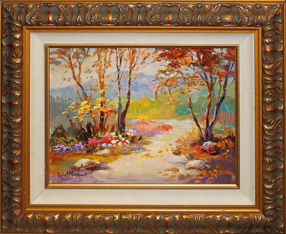 Rustic Path by Rafael Original Oil on Canvas
