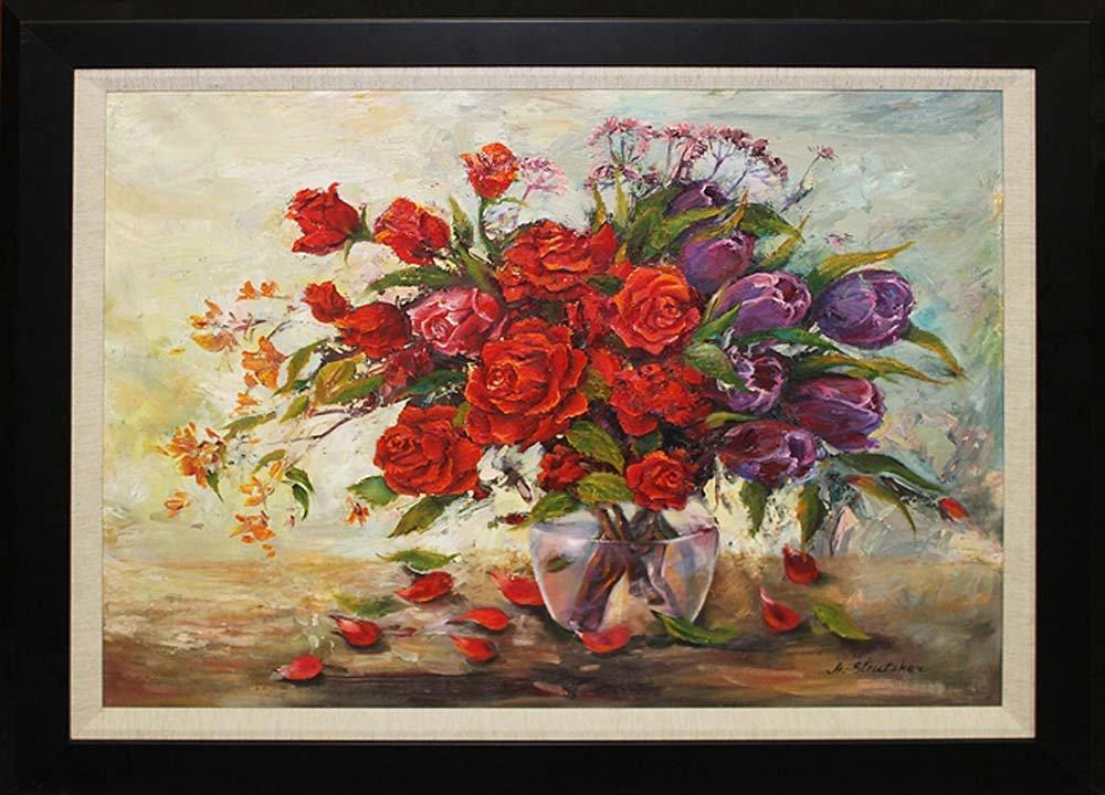 Arina-Roses & Tulips Mixed Media Original Edition of 25