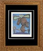 Pablo Picasso Hand Signed LithographPablo Picasso Hand
