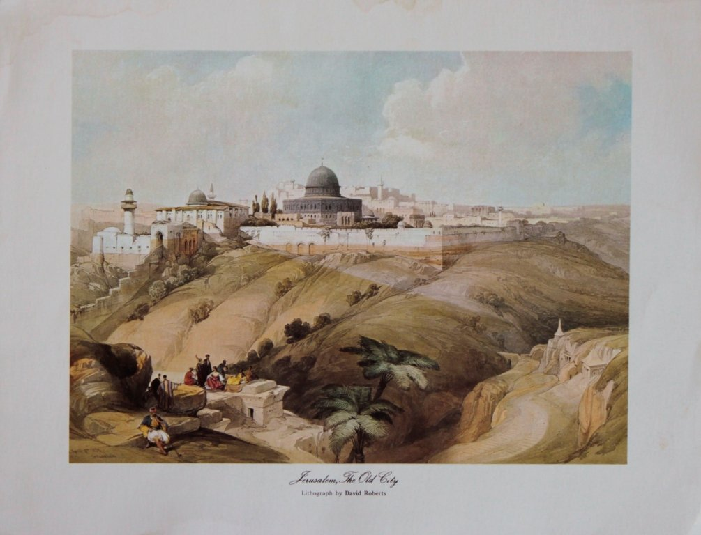 Jerusalem The Old City David Roberts Lithograph