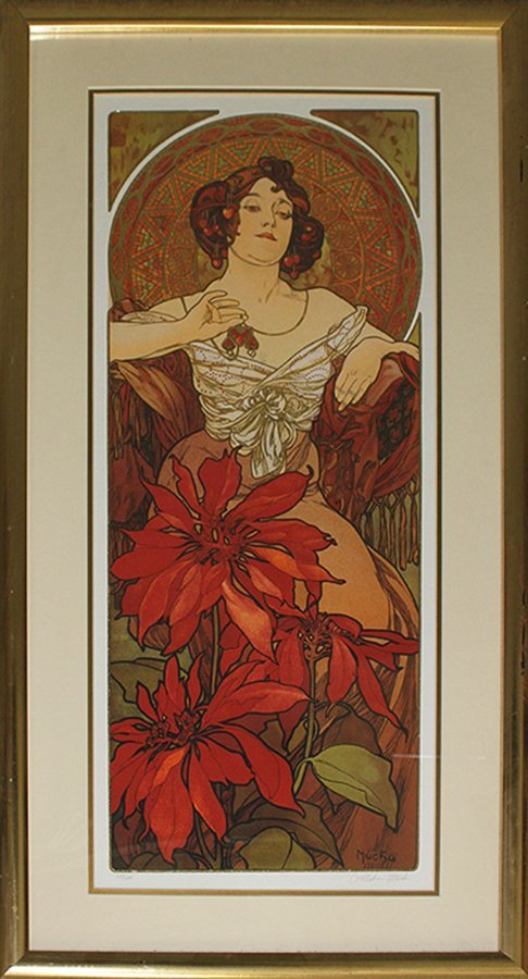 After Alphonse Mucha-Les Rubis/Ruby