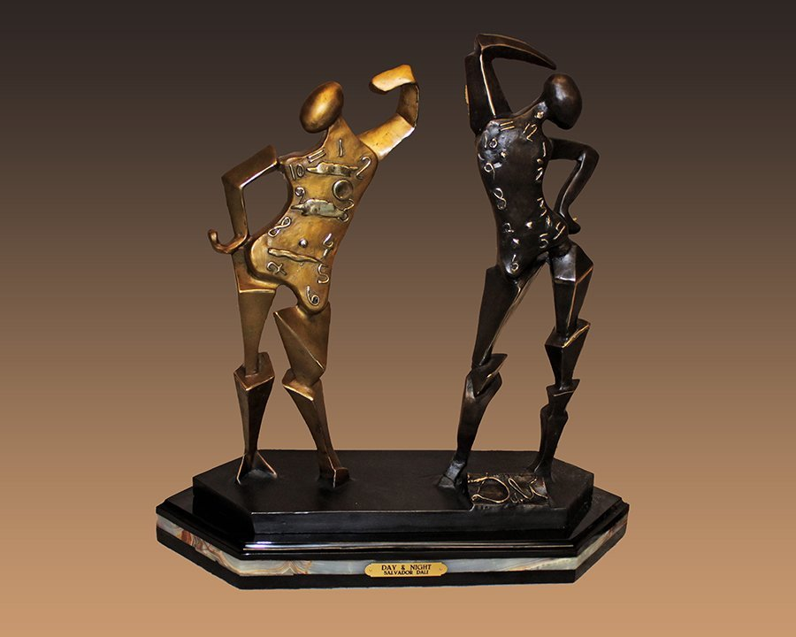 Salvador Dali Day and Night Bronze Sculpture***AMAZING