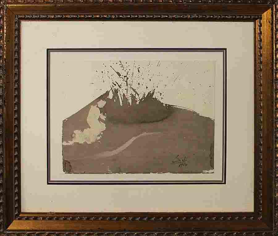 Salvador Dali-Lithograph-Volcano 1964