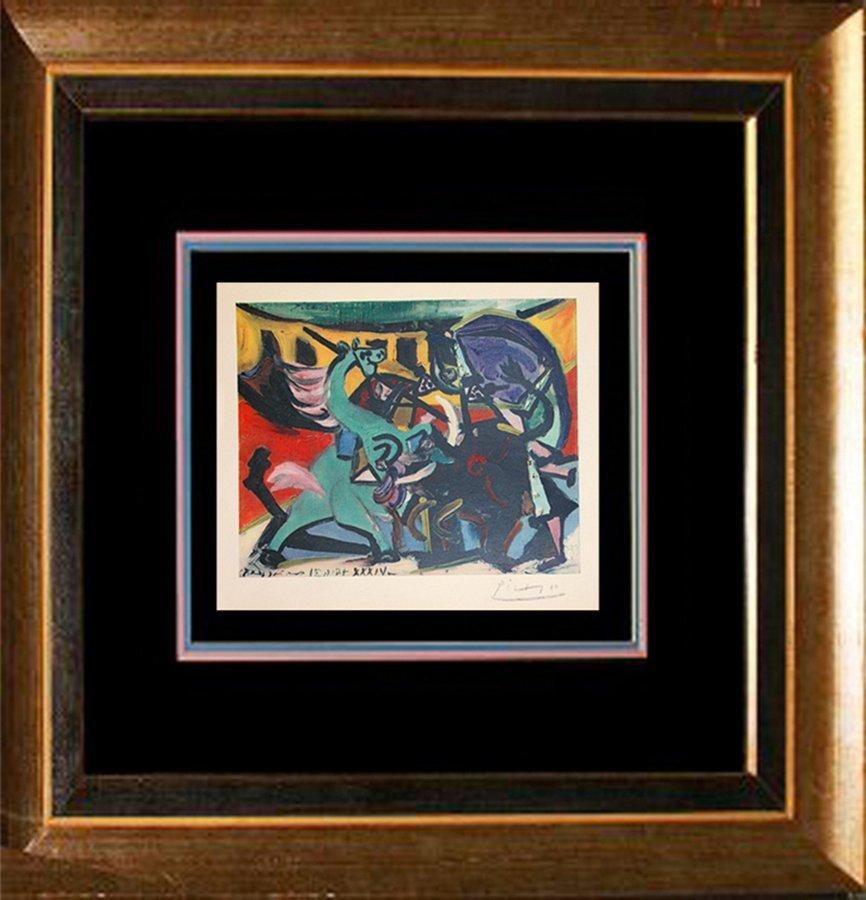 Pablo Picasso Hand Signed Custom Framed Lithograph