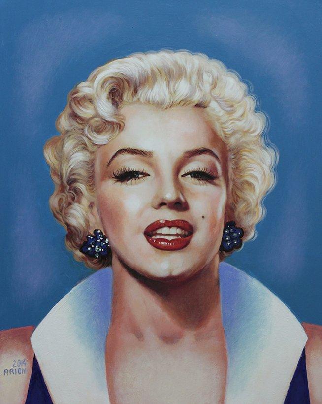 Marilyn Monroe Original Oil by Arion