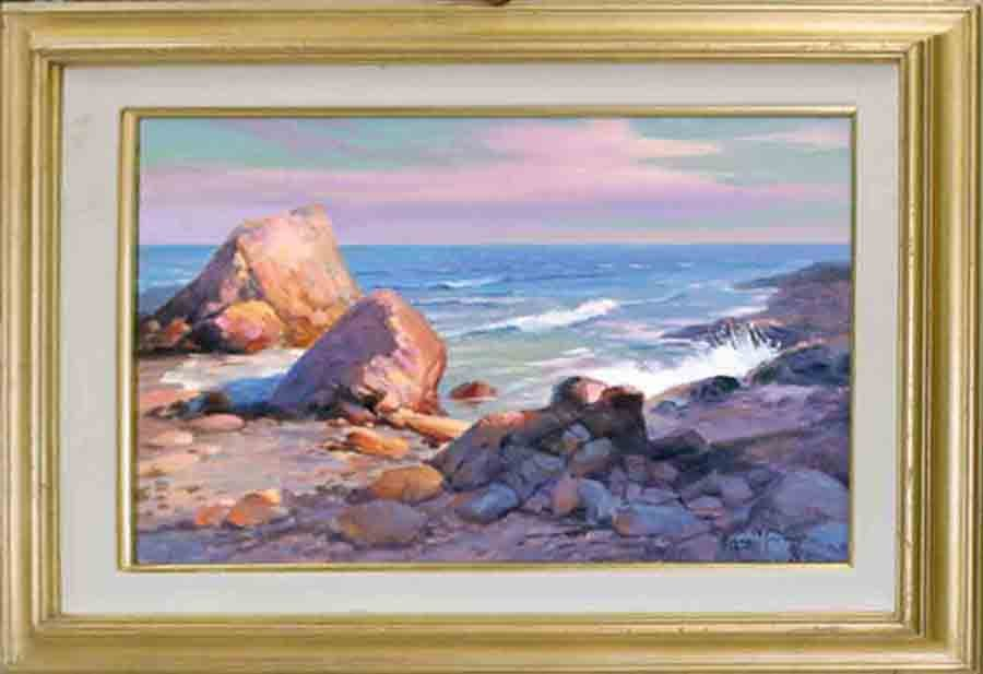 Rafael-Original Oil-Paradise Cove en plein air