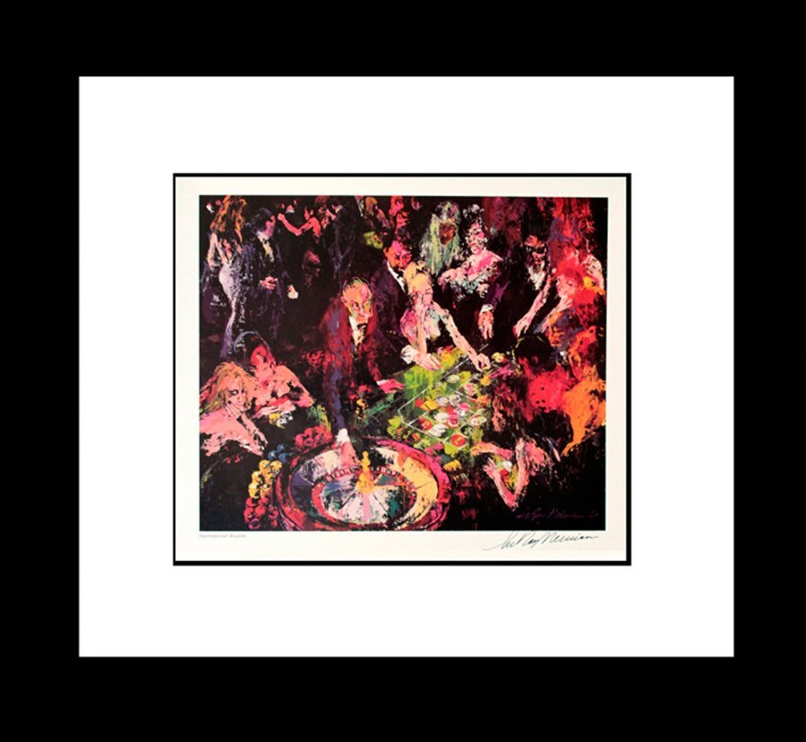 LeRoy Neiman Roulette Hand signed Lithograph