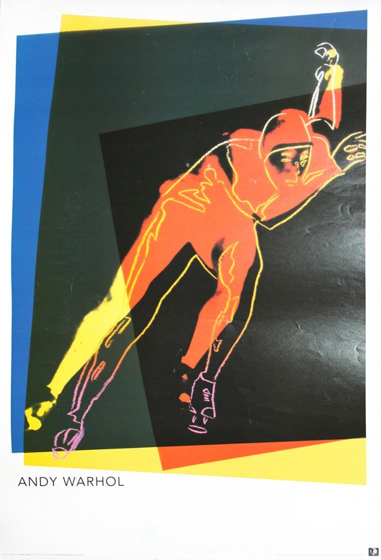 Andy Warhol Speed Skater Lithograph