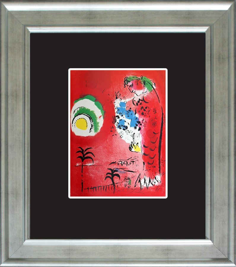 Marc Chagall Signed Original Custom Framed Lithograph
