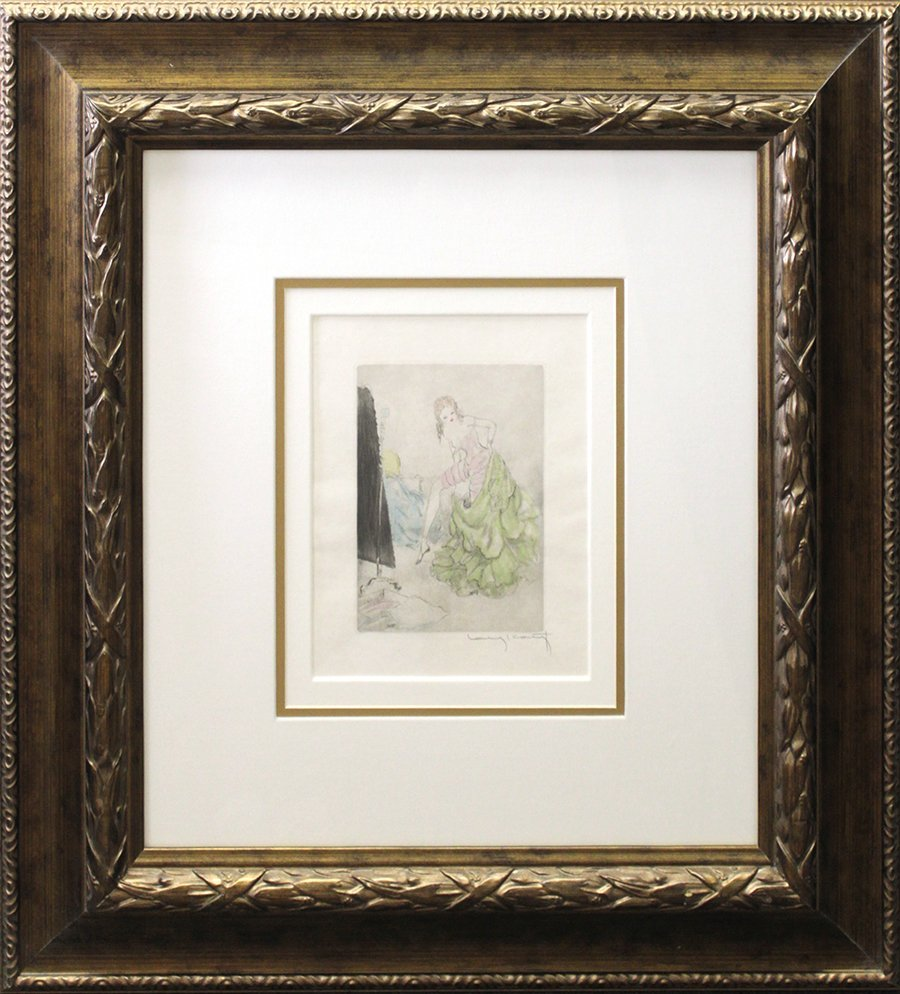 Louis Icart Signed Original Hand colored Etching