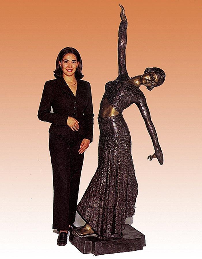 "Monumental Fine Bronze Demetre Chiparus 'The Dancer"""