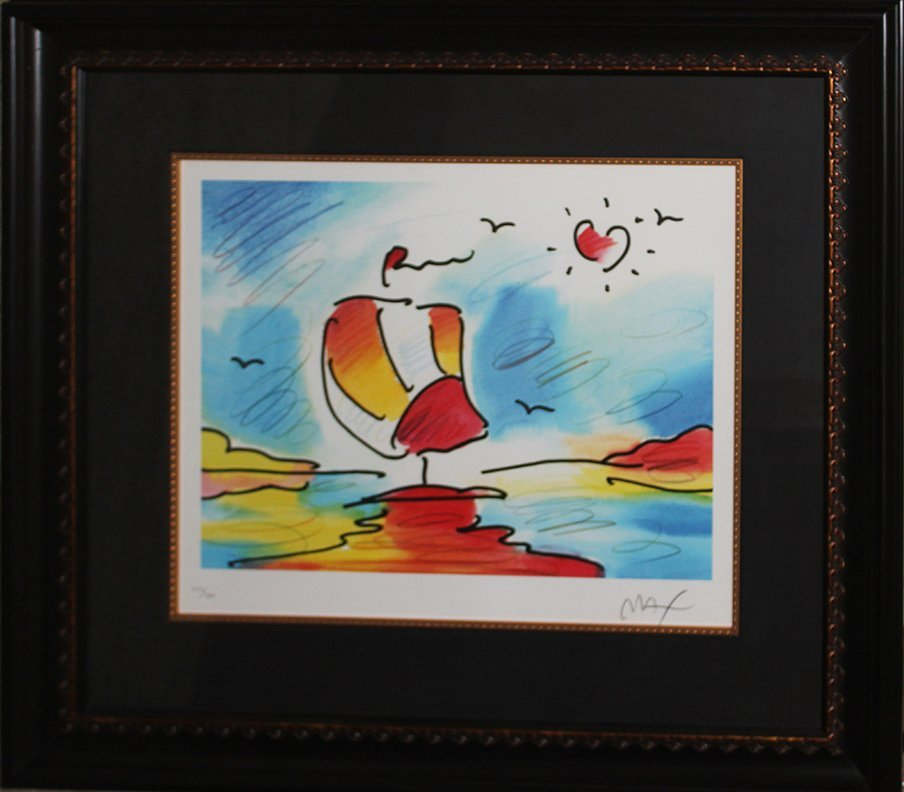 Peter Max Limited Edition Lithograph Sailing