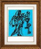 Original Lithograph Salvador Dali Knights of the Round