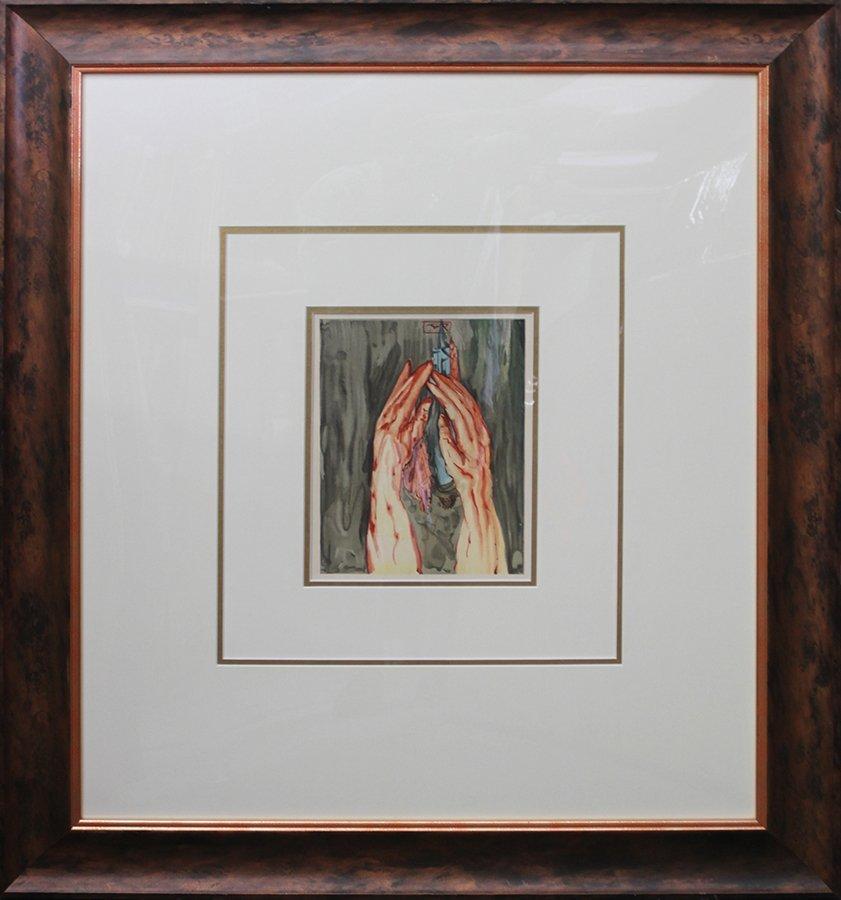 Salvador Dali Original Wood Block from Divine Comedy