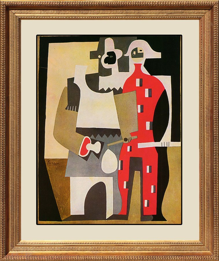 Two Harlequins after Pablo Picasso