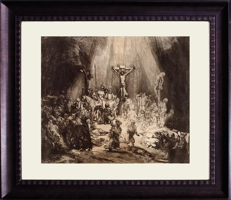 Christ Crucified between Two Thieves - Rembrandt -