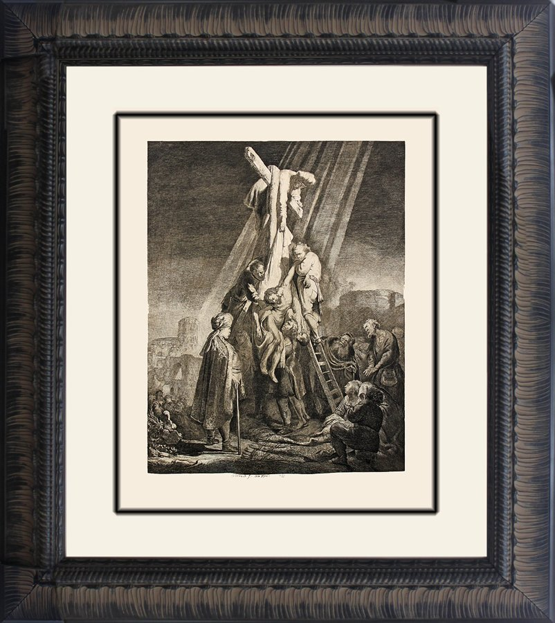 Rembrandt Etching Descent from the Cross