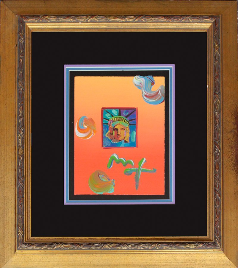 Peter Max Hand Signed Original Mixed Media