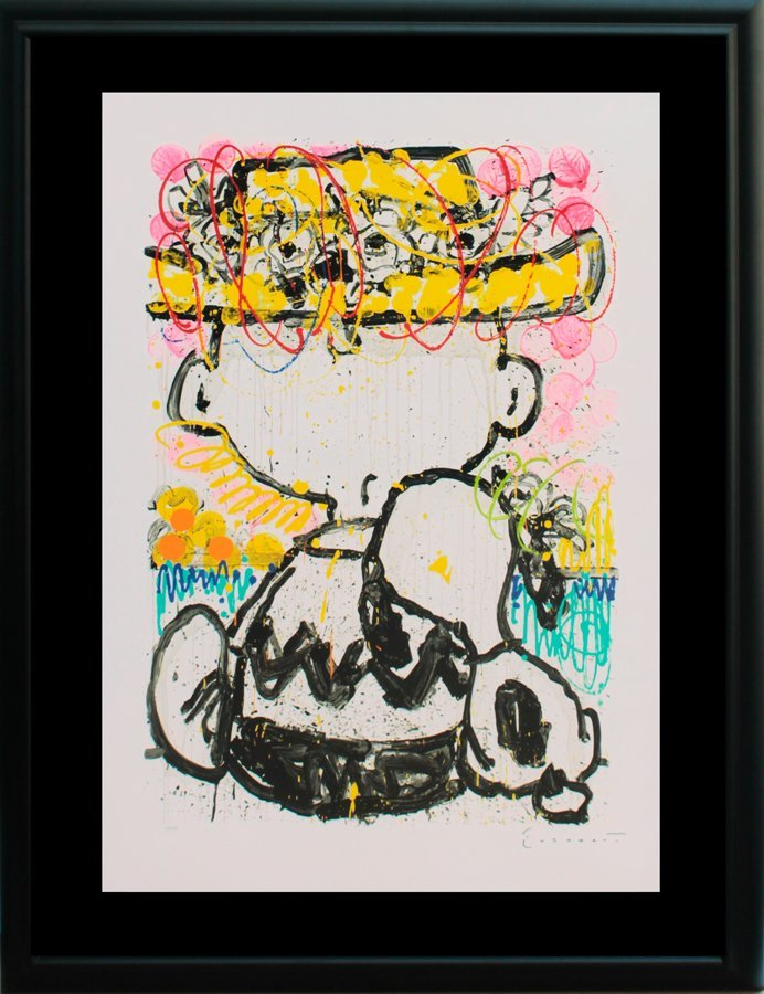Tom Everhart Charlie Brown Original Lithograph Limited