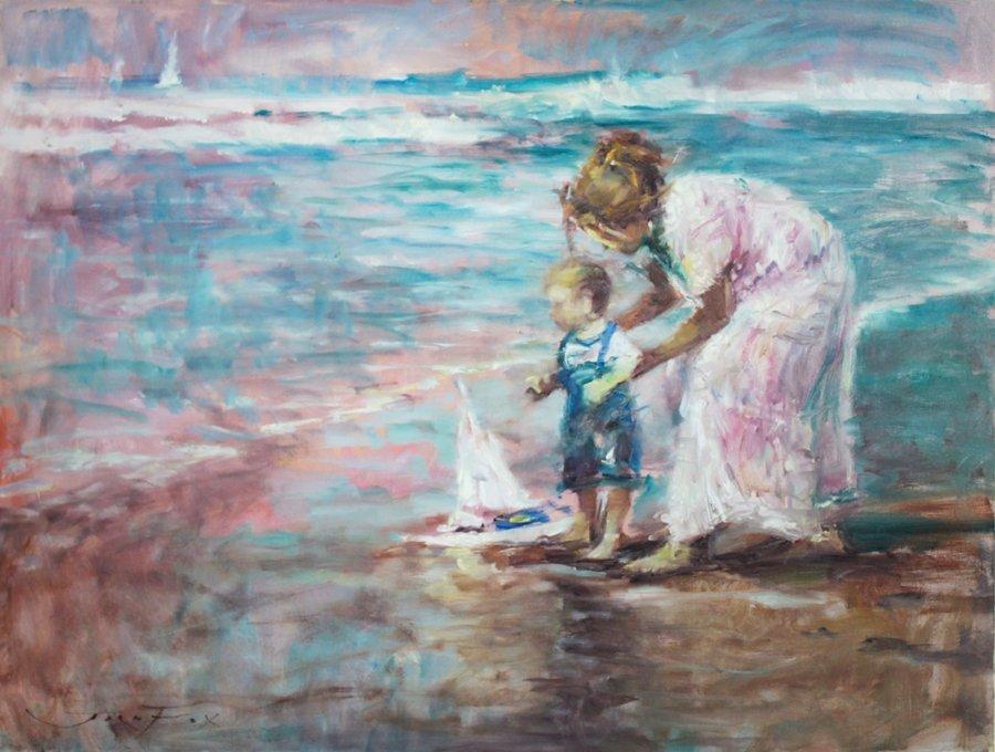 Original Oil on canvas by Jorn Fox