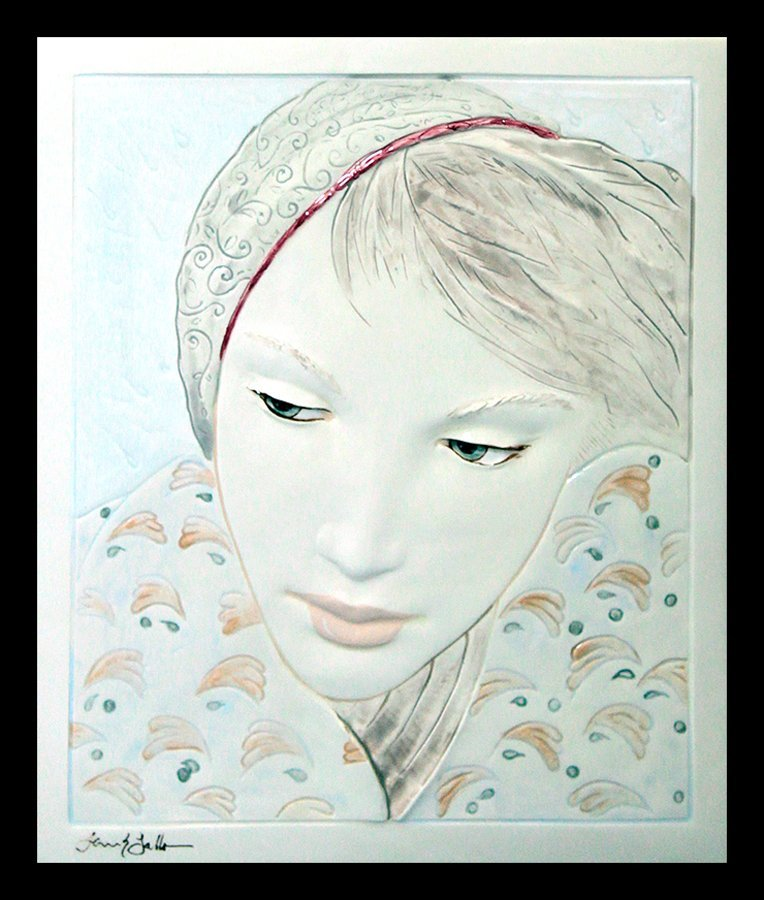 Frank Gallo Limited Ed Relief Hand Painted Ceramic