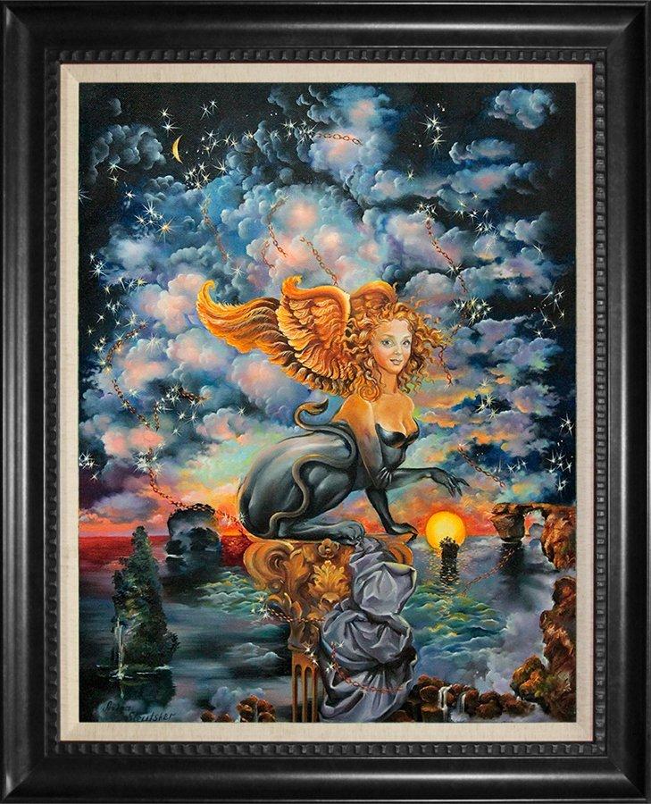 Zodiac LEO by Arina Hand embellished on canvas