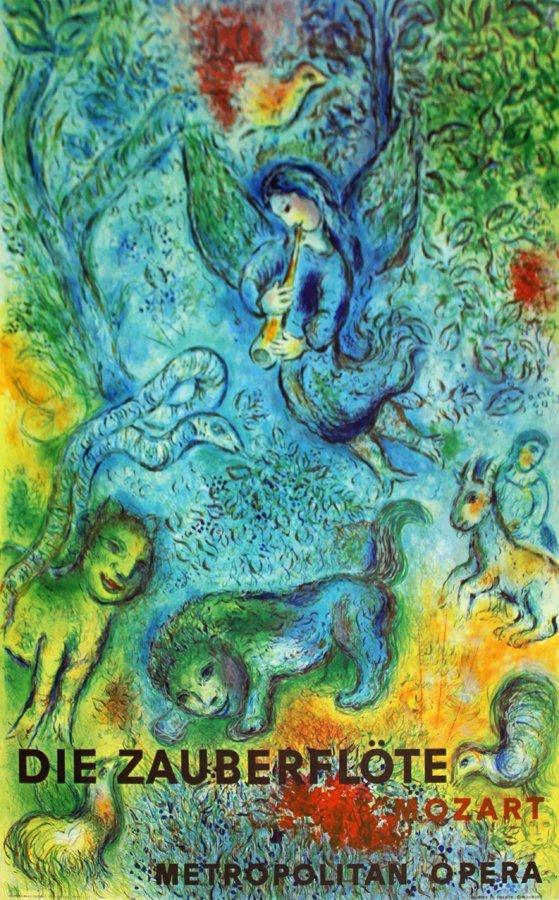 Marc Chagall Lithograph Magic Flute Mourlot Press