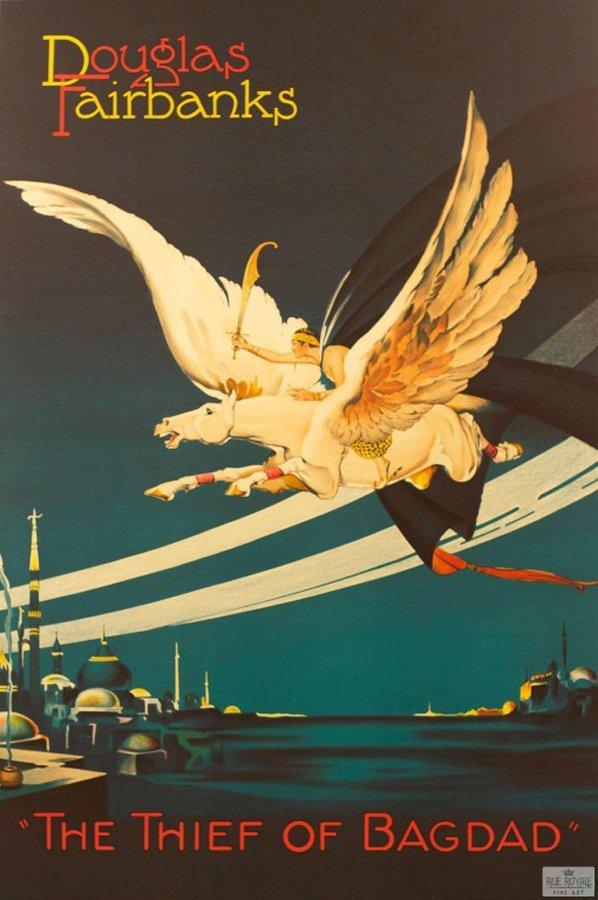 Thief of Baghdad Douglas Fairbanks  Original Lithograph