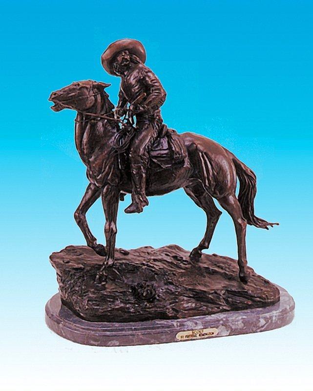 Frederic Remington Cowboy Bronze Sculpture