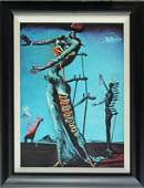 Salvador Dali Limited Edition Lithograph Burning