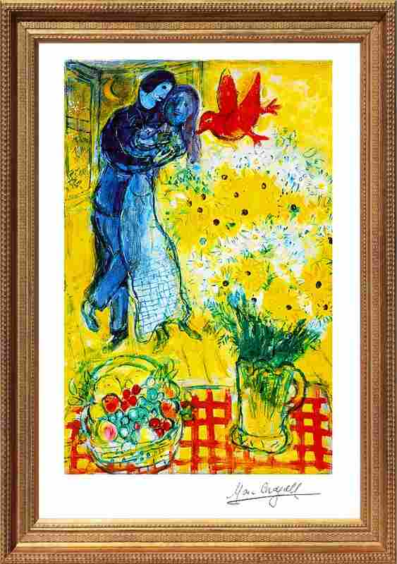 Marc Chagall Limited Edition Lovers and Daisies