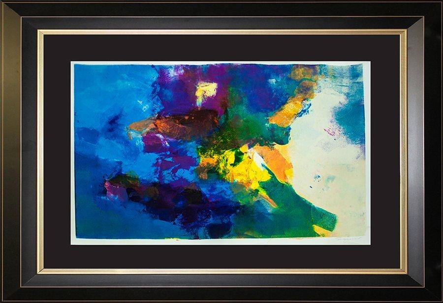 Original Oil Monoprint each piece is unique by Michael