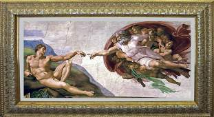 Creation The Creation of Adam on canvas