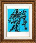 Original Lithograph Salvador Dali Knights of the Round