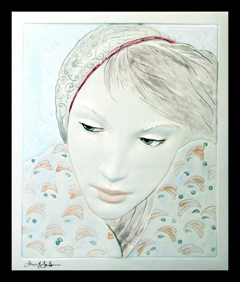 Frank Gallo Limited Edition Relief Hand Painted Ceramic